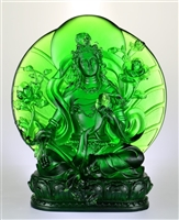Statue Green Tara, 9 inch, Glass