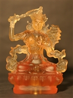 Statue Manjushri, Glass