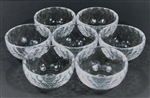 "Glass Bowls 3"", set of 7"