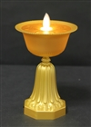 "LED Butter Lamp, Plastic, 6"" high, 3.5"" diameter"