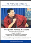 The Altruistic Heart: Training in the Four Immeasurables, Dzogchen Ponlop Rinpoche