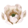 Lotus Conestick Incense Burner, 3.75 inch diameter, 2.25 inch height, porcelain