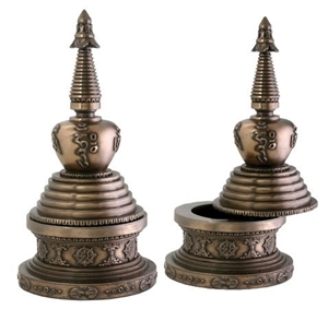 Statue Stupa resin,  08.25 inch