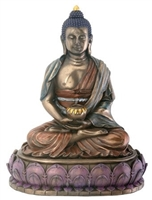Statue Amitabha resin, 06 inch. Hand painted.