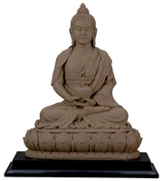 Statue Amitabha resin, 06 inch. Clay Finish