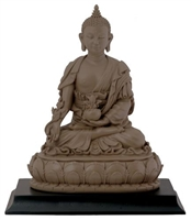 Statue Medicine Buddha resin, 06 inch. Clay Finish