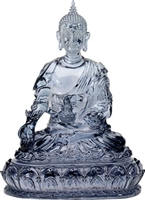 Statue Medicine Buddha resin, 06 inch. Hand painted.
