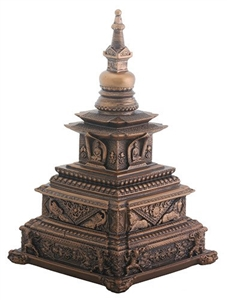 Statue Stupa resin, 05.5 inch