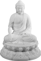 Statue Enlightenment Buddha resin, 7 inch