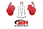 BMR Suspension 05-14 Mustang Control Arm Relocation Bracket Red