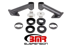 BMR Suspension 15-17 Mustang Cradle Bushing Lockout Kit Black