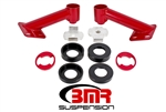 BMR Suspension 15-17 Mustang Cradle Bushing Lockout Kit Red