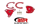BMR Suspension Caster camber plates 15-17 Mustang Red