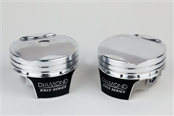 Diamond 10.5:1 Coyote 5.0 MOD 2K 1.8cc Dome Piston Set WITH RINGS