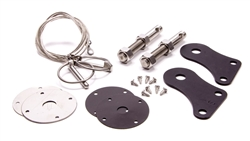 Drake Hood Pin Kit Stainless 05-09 Mustang