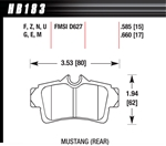 Hawk Performance HPS Plus Performance Street Brake Pads (4) Rear Mustang Cobra 94-02