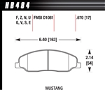 Hawk Performance Ceramic Performance Street Brake Pads (4) Front Mustang 05-10