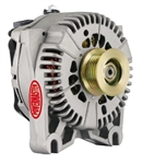Powermaster 200amp Alternator Ford 4G Style Natural Finish
