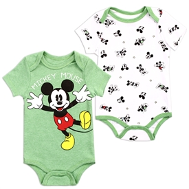 Wholesale MICKEY MOUSE Boys Newborn 2-Pack Creepers