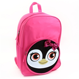 "Wholesale CRITTER 17"" Glitter Backpack - Penguin"