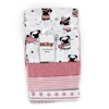 Wholesale NUBY Girls 4PK Receiving Blanket