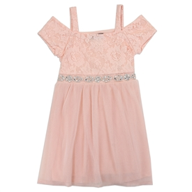 Wholesale RMLA Girls Toddler Mesh Holiday Jewel Trim Dress