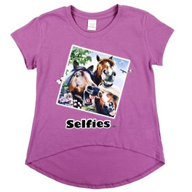 Wholesale Girls 7-16 Graphic Top - Horse