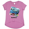 Wholesale Girls 7-16 Graphic Top - Dolphins