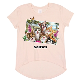 Wholesale Girls 7-16 Graphic Top - Cats