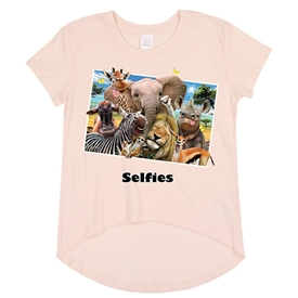 Wholesale Girls 7-16 Graphic Top - Safari