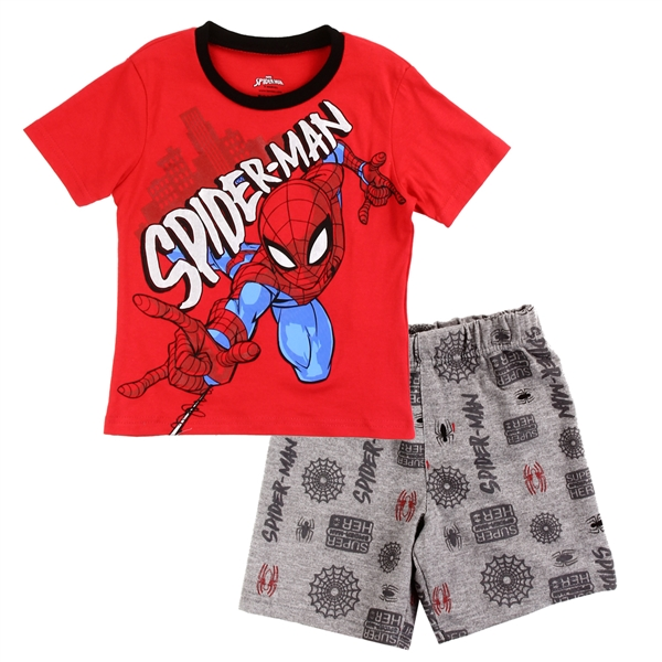 Wholesale SPIDER-MAN Boys Toddler 2-Piece Short Set