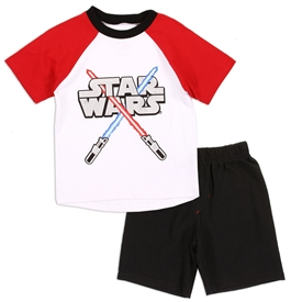 Wholesale STAR WARS Boys 4-7 2PC Short Set