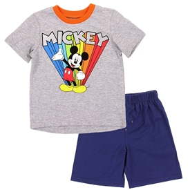 Wholesale MICKEY MOUSE Boys 4-7 2PC Short Set