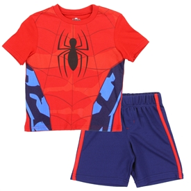 Wholesale SPIDER-MAN Boys 4-7 2PC Short Set