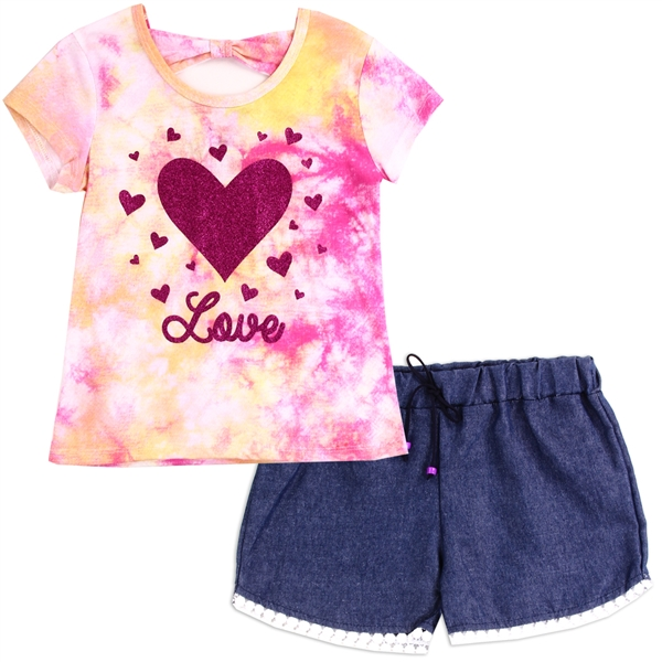 Wholesale RMLA Girls Toddler 2-Piece Short Set