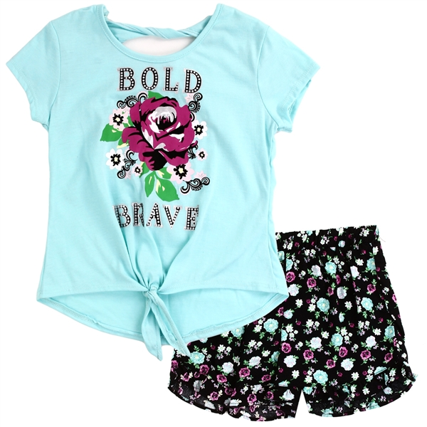 Wholesale RMLA Girls 4-6X 2-Piece Short Set