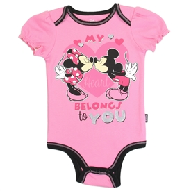 Wholesale MINNIE MOUSE Girls 6-18M Newborn/Infant Creeper