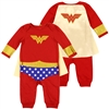 Wholesale WONDER WOMAN Girls Newborn Dress-Up Coverall W/ Cape
