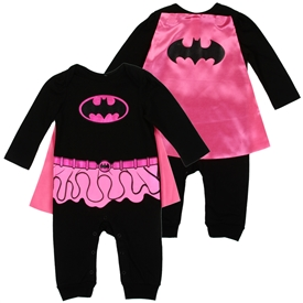 Wholesale BATGIRL Girls Newborn Dress-Up Coverall W/ Cape