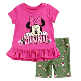 Wholesale MINNIE MOUSE Girls Infant 2PC Bike Short Set