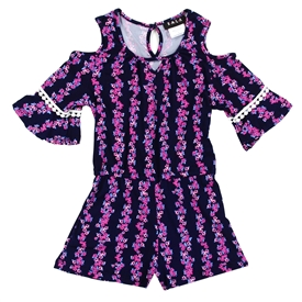 Wholesale RMLA Girls 4-6X Cold Shoulder Romper