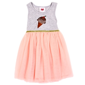Wholesale RMLA Girls 4-6X Mesh Dress w/ Flip Sequins