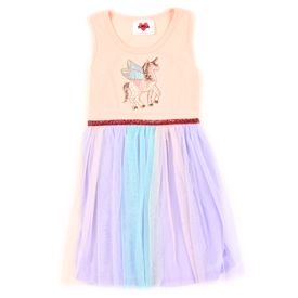 Wholesale RMLA Girls 4-6X Mesh Dress w/ Sequin Applique