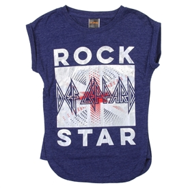 Wholesale DEF LEPPARD Girls 7-12 Fashion Top