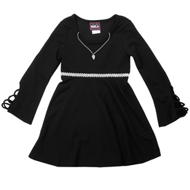 Wholesale RMLA Girls 7-14 Knit Holiday Dress W/ Necklace