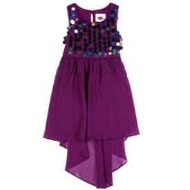 Wholesale RMLA Girls 7-14 Sequin High Low Dress