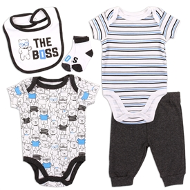 Wholesale EMPORIO BABY Boys Newborn 4PC Layette Set