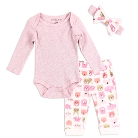 Wholesale EMPORIO BABY Girls Newborn 3PC Layette Set