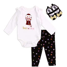 Wholesale EMPORIO BABY Girls Newborn 3PC Shoe Set