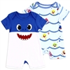 Wholesale BABY SHARK Boys Newborn 2-Pack Rompers